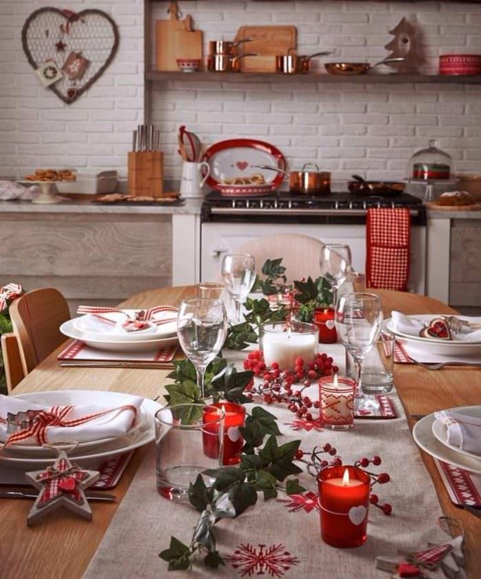 Сервировка стола накануне новогоднего праздника