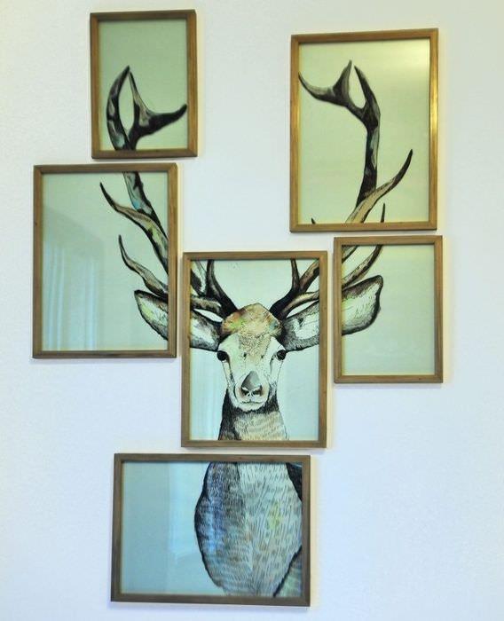 Изображение оленя из отдельных картин