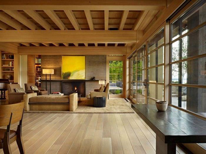 интерьер дома из бруса выбор стиля и идеи современного дизайна
