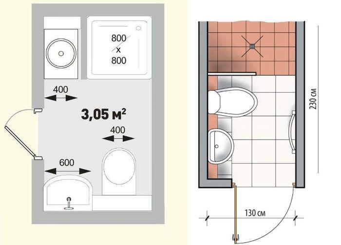 Примеры проектов ванной, совмещенной с туалетом