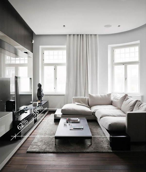 Идеальные размеры дивана и журнального столика