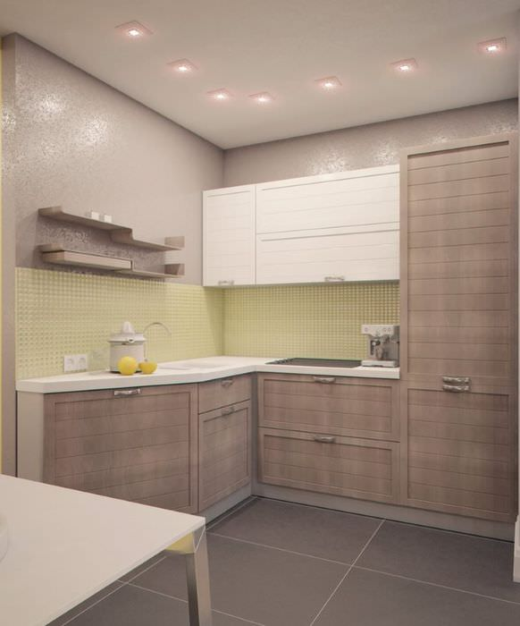 Дизайн серой кухни в стиле минимализма