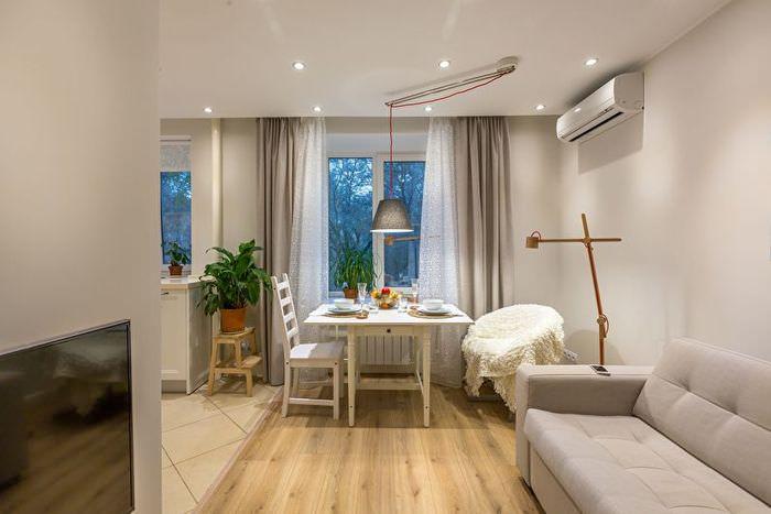 Дизайн хрущевки после объединения кухни с гостиной