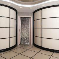 Два радиусных шкафа с раздвижными дверками