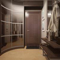 Вогнутые двери шкафа-купе