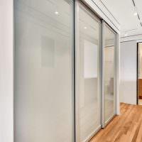 Раздвижные двери шкафа из закаленного стекла