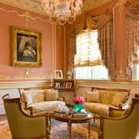 Оформление зала частного дома в классическом стиле