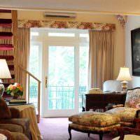 Светильники с тканевыми абажурами в интерьере гостиной