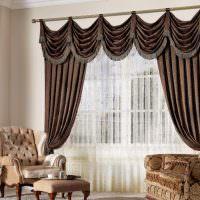 Итальянские шторы коричневого окраса