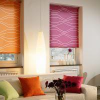 Яркие рулонные шторы различного цвета