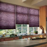Фиолетовые шторы для защиты от яркого солнечного света