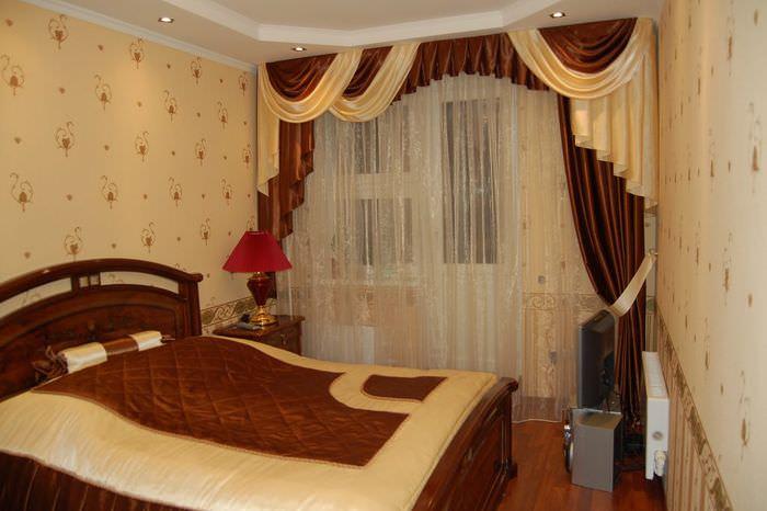 Интерьер спальни в современном панельном доме