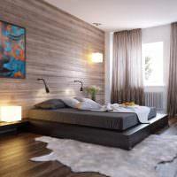 Оформление интерьера спальни в коричневых оттенках