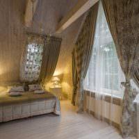 Освещение спальни в мансарде частного дома