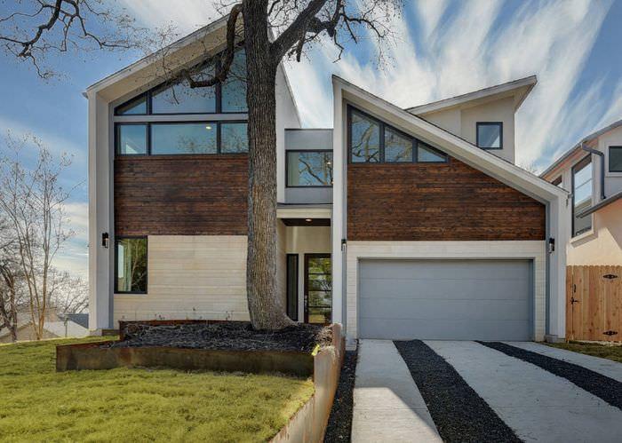 Фасады жилого дома современной архитектуры