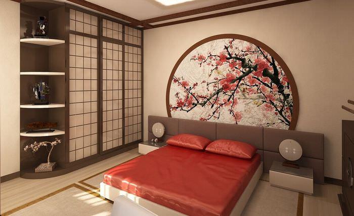Спальня в японском стиле в панельном доме