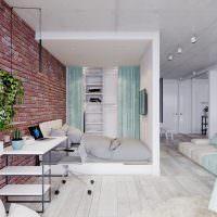 Ниша для кровати в квартире-студии