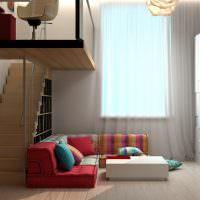 Низкий диван угловой планировки