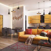 Геометрические узоры в интерьере жилой комнаты