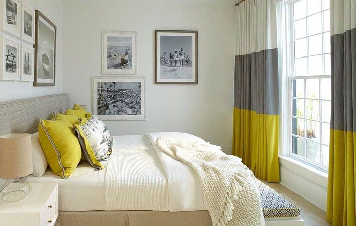 Сочетание штор с другими деталями дизайна спальни