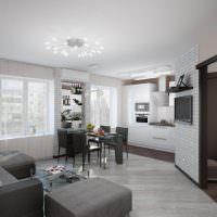 Серый пол в дизайне гостиной комнаты