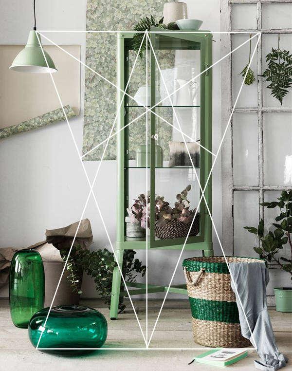 Определение цветовой палитры интерьера с помощью треугольников