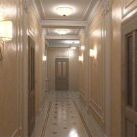 Керамический пол в коридоре классического стиля
