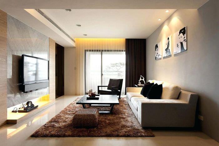 Дизайн зала в стиле модерн