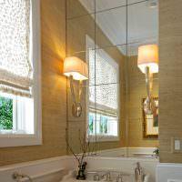 Светильники над раковиной в ванной комнате