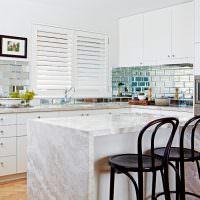 Кухонная мебель из натурального мрамора