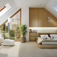 Живые растения в дизайне спального помещения