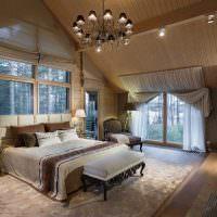 Люстра в интерьере спальни супругов