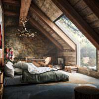 Дизайн спальни в темных оттенках