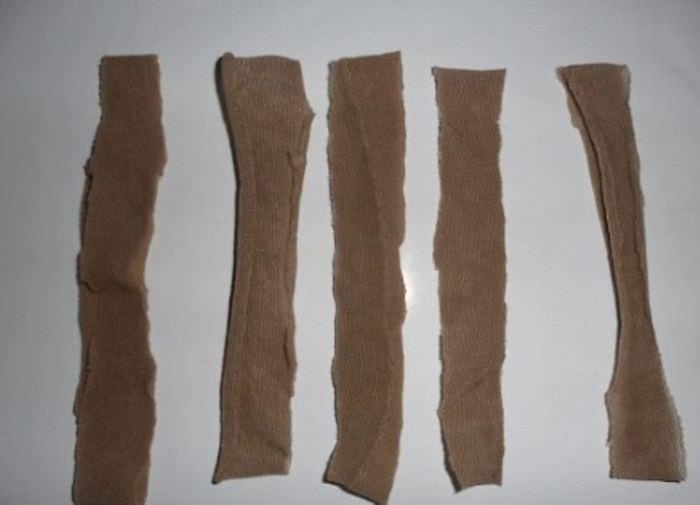 Заготовки из капроновых чулков для декоративных роз