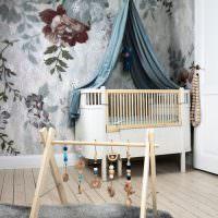 Интерьер детской комнаты для младенца