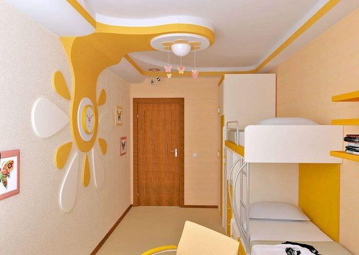 Оранжевый цвет в интерьере детской комнаты