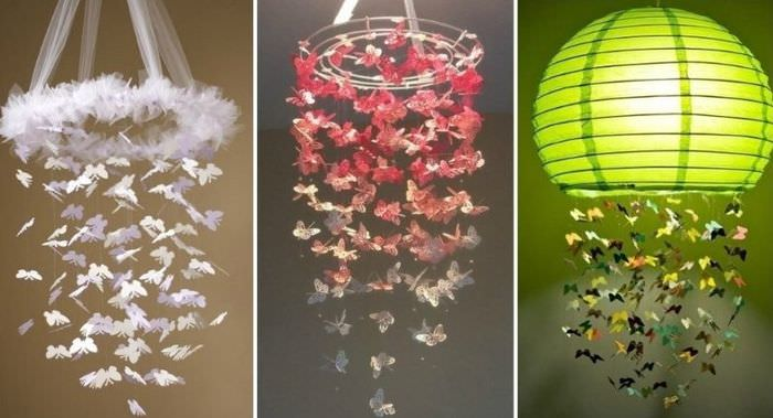 Декоративные бабочки из бумаги своими руками