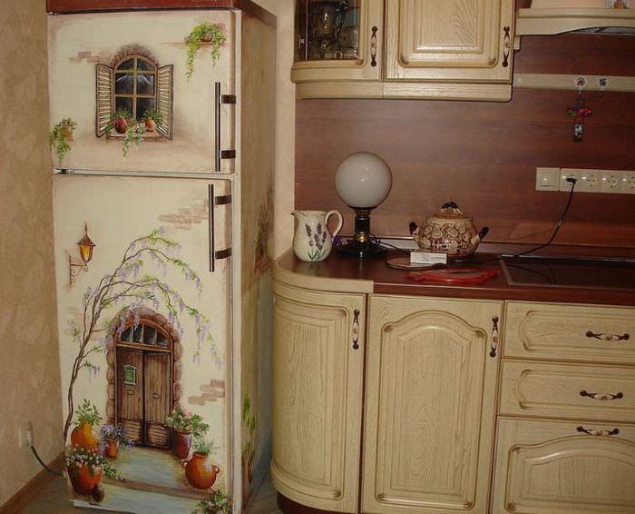 Декорирование холодильника своими руками