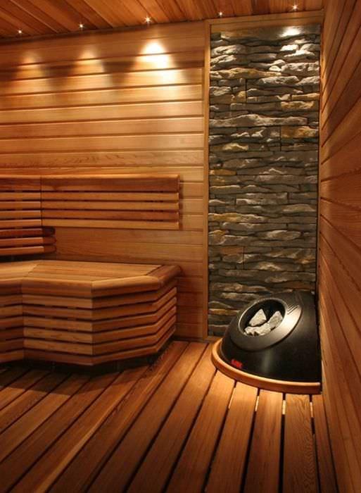 Деревянный пол в частной бане