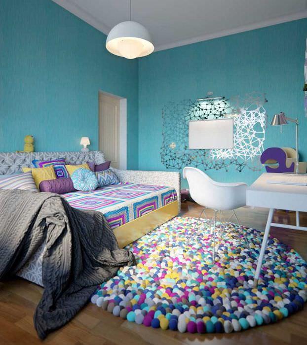 Раскладной диван в интерьере детской комнаты