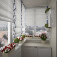 Римские шторы белого цвета