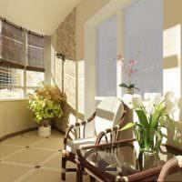 Керамический пол на застекленном балконе