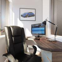 Офисное кресло черного цвета