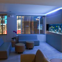 Светодиодная подсветка стойки с аквариумом