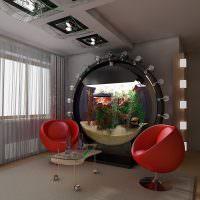 Красные стулья в интерьере жилой комнаты