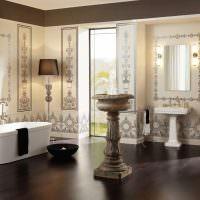 Ванная комната с фонтанчиком в античном стиле