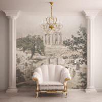 Декорирование стены с помощью художественной росписи