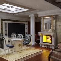 Интерьер гостиной в пастельных тонах