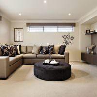 Дизайн гостиной с низким потолком