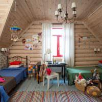 Декорирование детской комнаты в мансарде частного дома